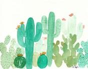 Green Cactus Landscape