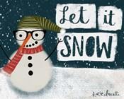 Let It Snow Hipster Snowman