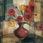 Poppies in a Copper Vase I