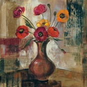Poppies in a Copper Vase II