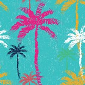 Tropical Palm Tree Pattern