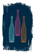 Bottles on Navy