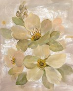 White on White Floral I