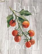 Market Vegetables IV on Wood