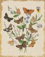 Butterfly Bouquet I Linen