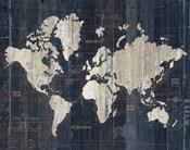 Old World Map Blue v2