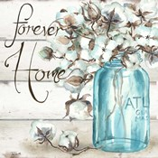 Cotton Boll Mason Jar II Home