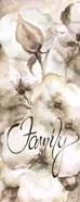 Cotton Boll Panel Grey Sentiment I (Family)