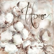 Cotton Boll Triptych Sentiment I (Home)