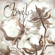 Cotton Boll Triptych Sentiment III (Family)