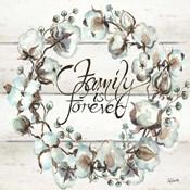 Cotton Boll Family Wreath
