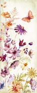 Colorful Wildflowers and Butterflies Panel I