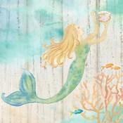 Sea Splash Mermaid Woodgrain I
