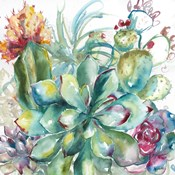 Succulent Garden Watercolor I