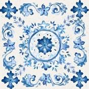 Artisan Medallions White/Blue III