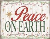 Peace on Earth Woodgrain sign