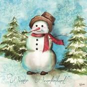 Watercolor Snowmen II