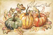 Watercolor Harvest Welcome Fall