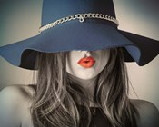 Vintage Fashion - Blue Hat