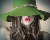 Vintage Fashion - Green Hat