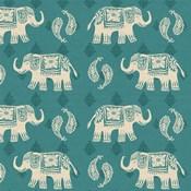 Woodcut Elephant Pattern B