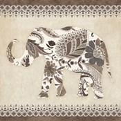 Boho Elephant II Neutral