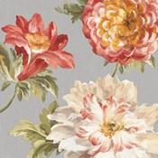 Mixed Floral IV Crop II Gray II