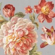 Mixed Floral IV Crop I Gray I