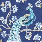 Peacock Allegory IV Blue