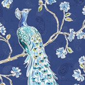 Peacock Allegory III Blue