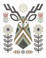 Folk Lodge Deer II Hygge