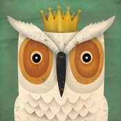 White Owl with Crown