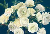 Roses in Cobalt Vase Indigo Crop