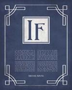 If by Rudyard Kipling - Ornamental Border Blue