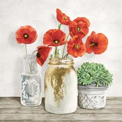 Floral Composition with Mason Jars II