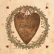 Punched Tin Heart on Wreath
