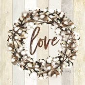 Love Cotton Wreath