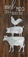 Metal Farm Animal Stack