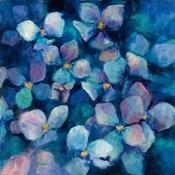 Midnight Blue Hydrangeas with Gold