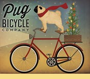 Pug on a Bike Christmas