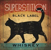 Superstition Black Label Whiskey Cat