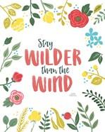 Wildflower Daydreams I v2 on White