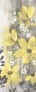 Floral Symphony Yellow Gray Crop I