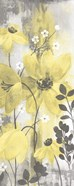 Floral Symphony Yellow Gray Crop II