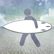 Beach Signs Surfer