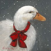 Goose Red Xmas Bow