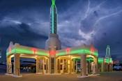 Rt 66 Shamrock Texas Conoco Lightning