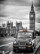 London Taxi and Big Ben - London