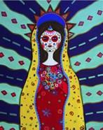 Virgin Guadalupe Dia De Los Muertos