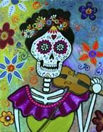 Frida Playing Violin